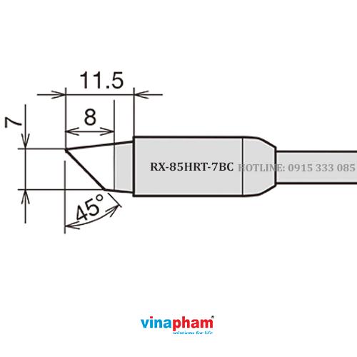 Mỏ hàn, tips hàn cho máy hàn thiếc RX-85HRT-7BC GOOT
